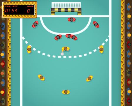 Você tem 2 minutos para vencer a defesa e marcar o maior número de gols possível!