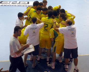 Seleção brasileira comemora a vitória