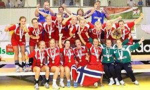 Seleção Norueguesa após premiação